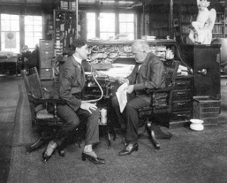 Edwin C. Barnes y Thomas A. Edison